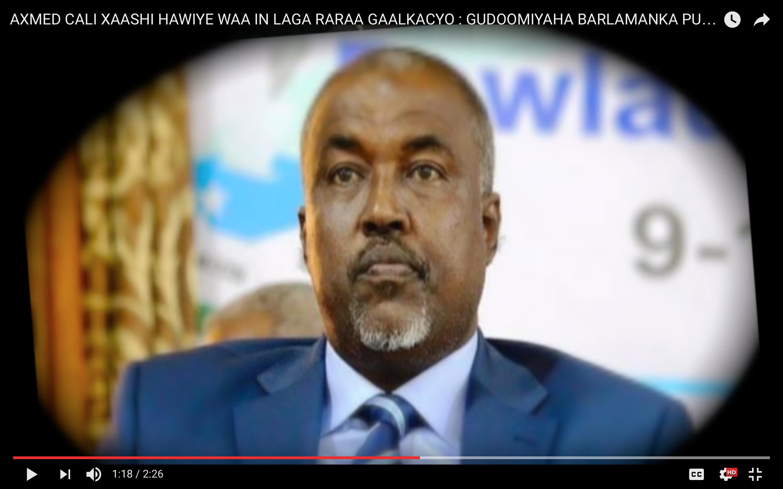 [Daawo] Gudoomiyaha Baarlamaanka Puntland oo ku baaqay in Hawiye laga raro Galkacyo ?