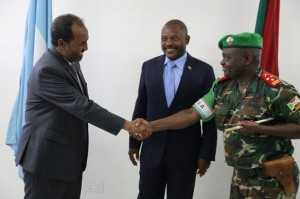 Burundian President arrives in the Somali capital