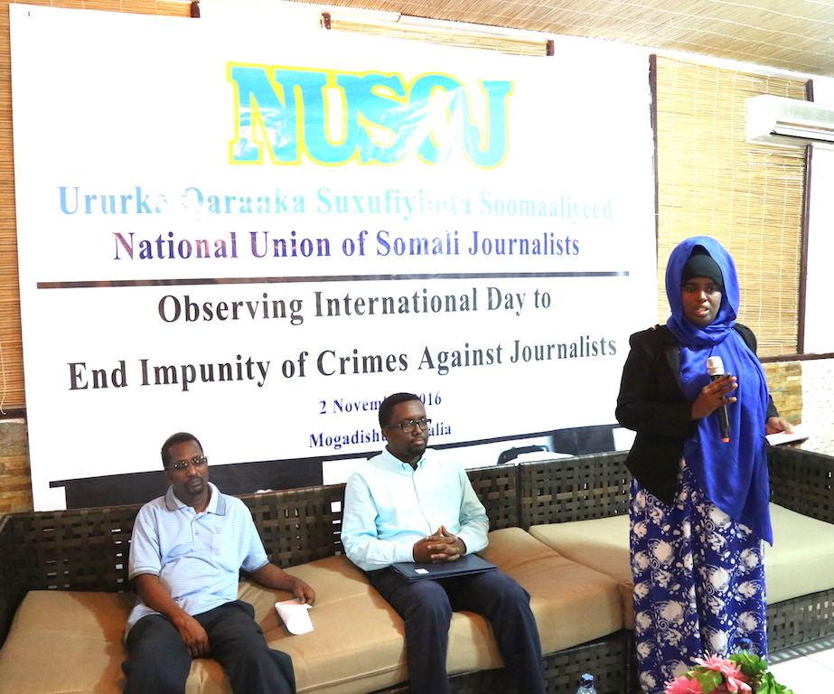 Somalia:Authorities must work to combat endemic impunity, NUSOJ roundtable participants say