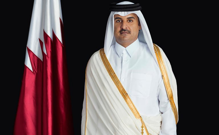 HH the Emir Holds Telephone Conversation with Somali President