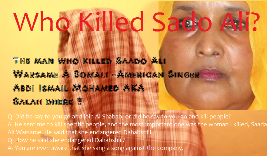 Dahabshiil was behind killing of Somali-American singer -Proof Video of the Murder