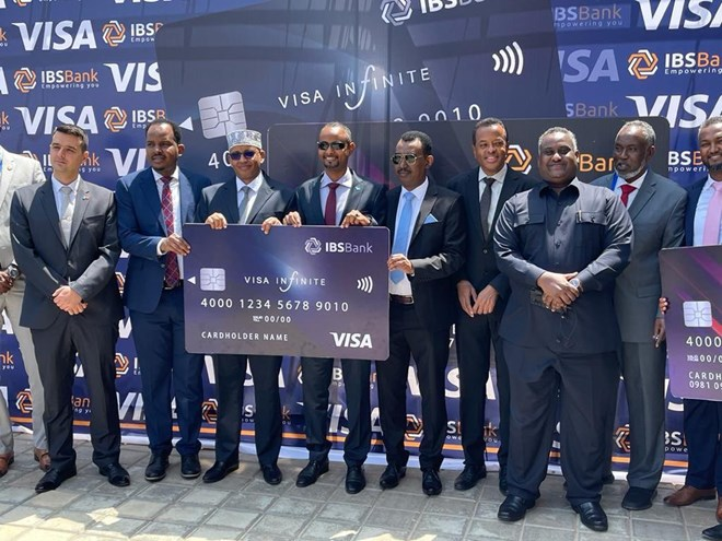 Al-qaida Share ,IBS bank Somalia launches Visa Card Payment