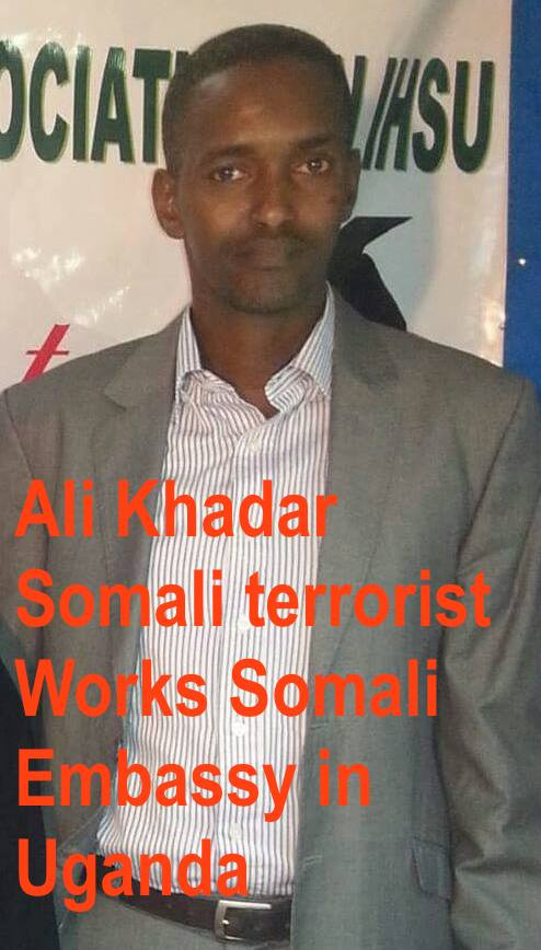Who is the head of Uganda-based terrorists? Khadar Hassan Warjiid