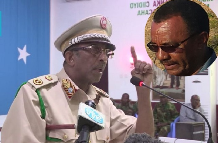 Ethiopian diplomat was stopped to participate in a meeting for Somalia's armed forces