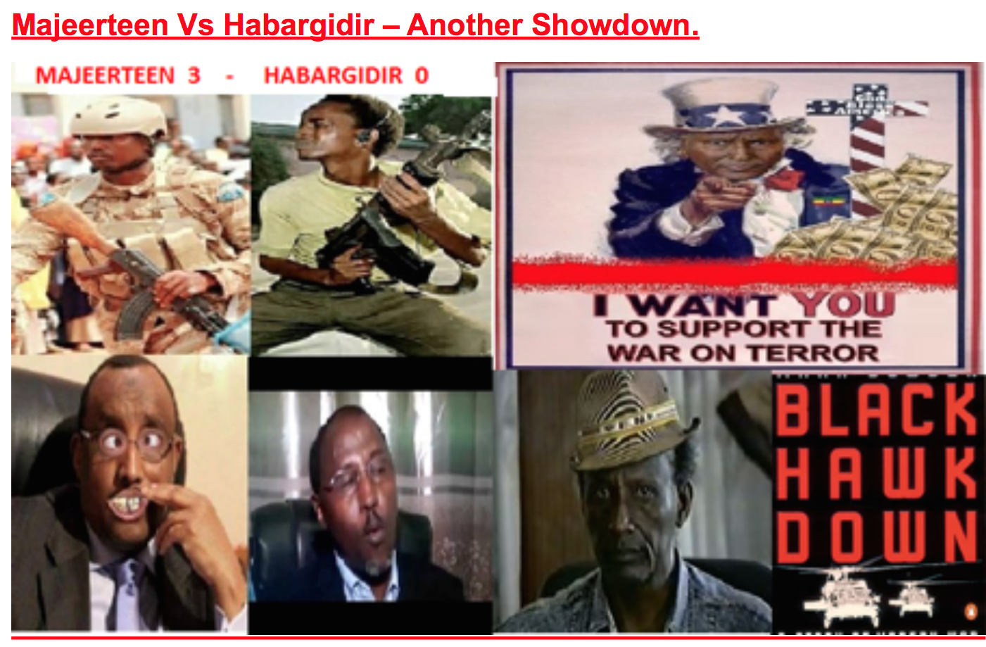 Somalia:Majeerteen Vs Habargidir – Another Showdown.