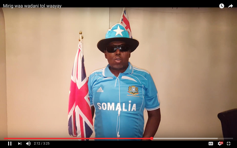 [Daawo] wadani geesi Somalia oo wacdaro ka dhigay London