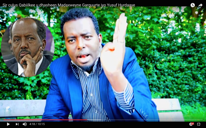 [Daawo] Sir culus Qabiilkee u dhasheen Madaxweyne Garguurte iyo Yusuf Hurdaaye