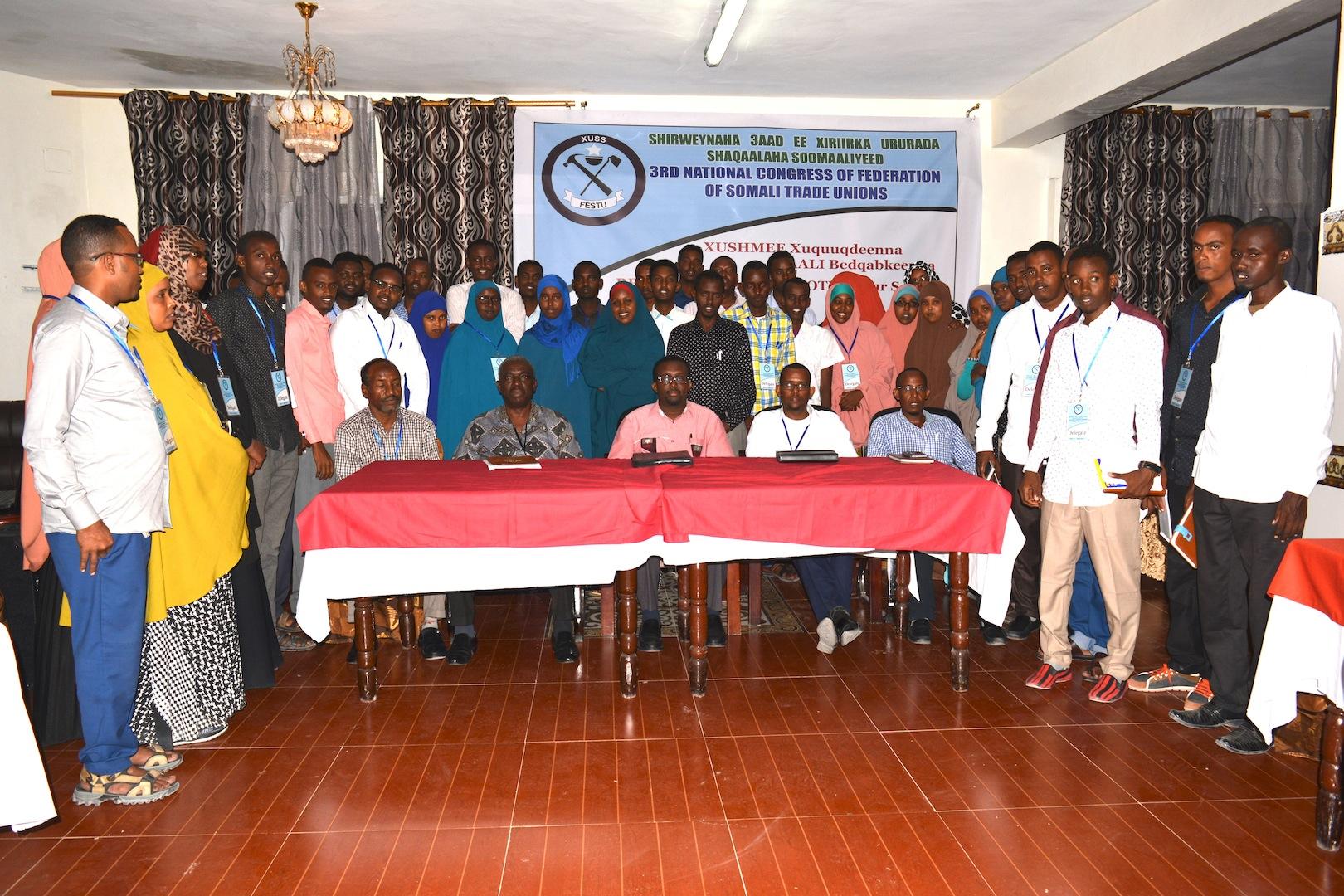 Somalia:FESTU concludes successful National Congress