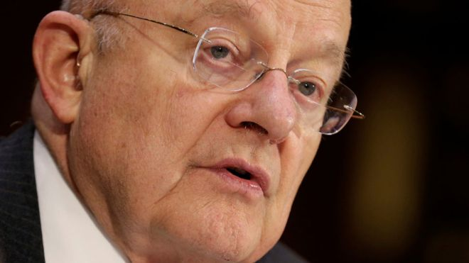 Chief US spy James Clapper denies Trump leak claim