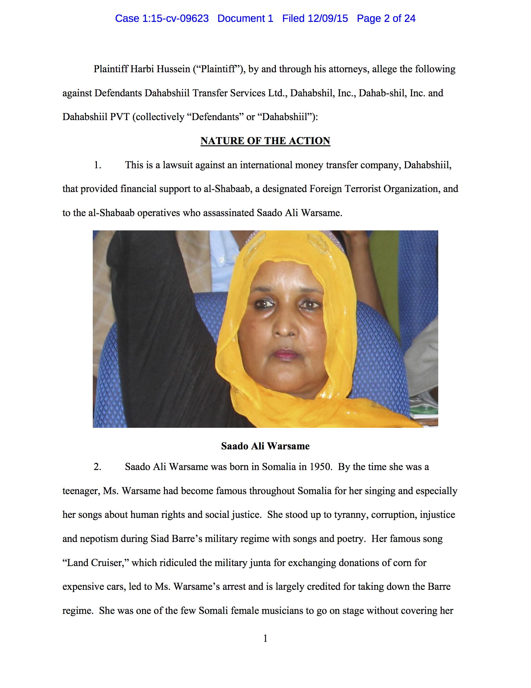 Slain Somali Icon's Son Targets Terror Funds Dahabshiil.