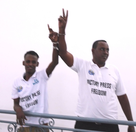 Video Hussein Aideed calls for the release of Shabelle journalists jailed by the Somali government