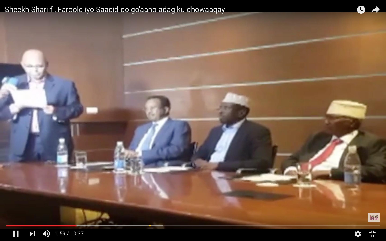 [Daawo] Musharaxiinta Shariifka Faroole iyo Saacid oo shir jaraaid ku qabtay Kampala