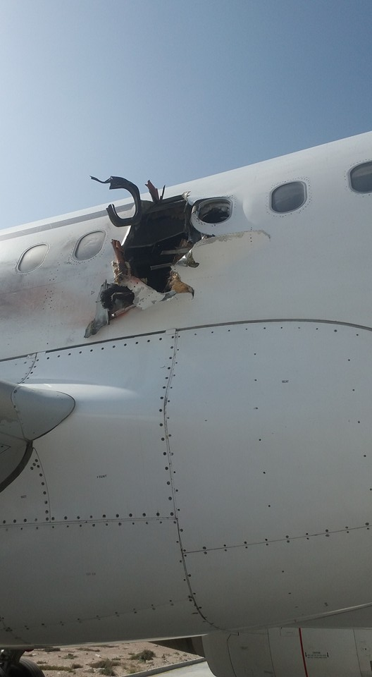 Somalia:Daallo Airlines A321 Explosive is a possible bomb blast