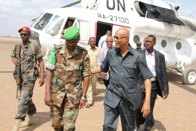 Somali The Pm visited Bulo Burde and Jowhar