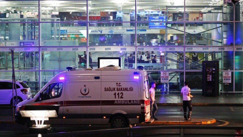Breakingnews Turkey airport explosions: 28 dead, 60 injured.