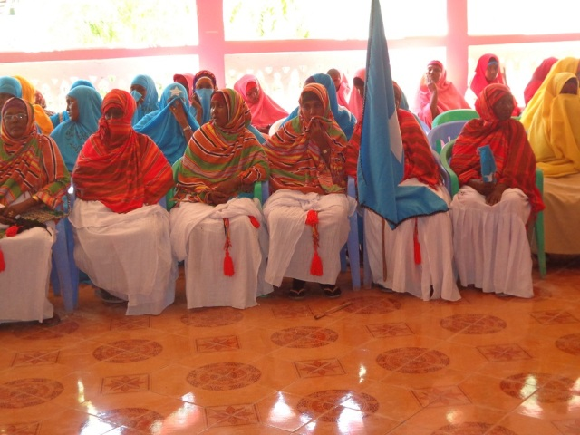 "Somali President ""Women are the backbone and breadwinners of Somali society."""