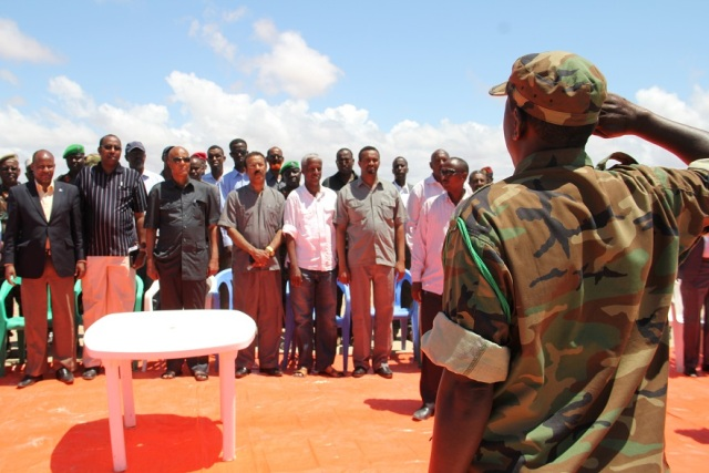 Somali PM addresses soldiers at military training camp in Kismayo