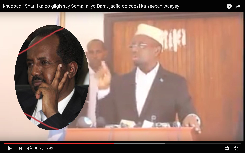 [Daawo] Sheekh Shariif oo jeediyay khudbad Garguurte ka hurdi waayey oo Somalida kicisay