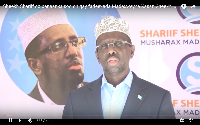 [Daawo] Shariifka oo sheegay in Garguurte lacag laaluusha siiyay Xildhibaanadda laakiin isaga yahay Madaxweynaha Somalia