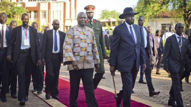 South Sudan's rebel leader back Juba - Heal?