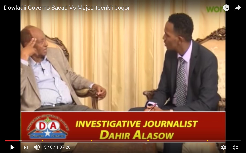 [Daawo] Dowladdii Governo Sacad iyo boqorkii Majeerteen markii uu Cabdullahi Ciise ka eryay Wasiirkii Daaqiliga