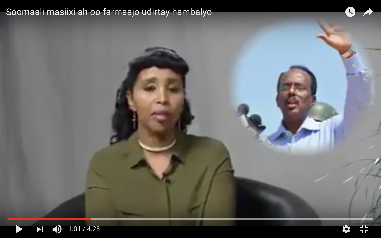 [Daawo] Somali Masiixiyiin gaaloowday oo Farmaajo iyo Ra'isulwasaarahiisa Xasan Masiixi hambalyo u diray