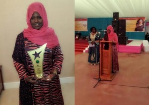 Somali politician and peace activist receives international award