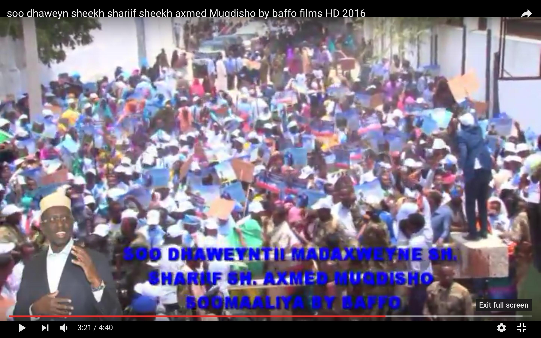 [Daawo full Video] sidii Shariif Sheekh Axmed Xamar loogu soo dhaweeyay ?