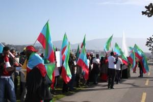 Hundreds Protest against Ethiopian human Rights Abuses in Ogaden at Geneva Conference