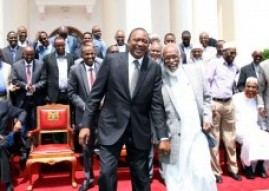 Kenyan President meets Somali business community on security