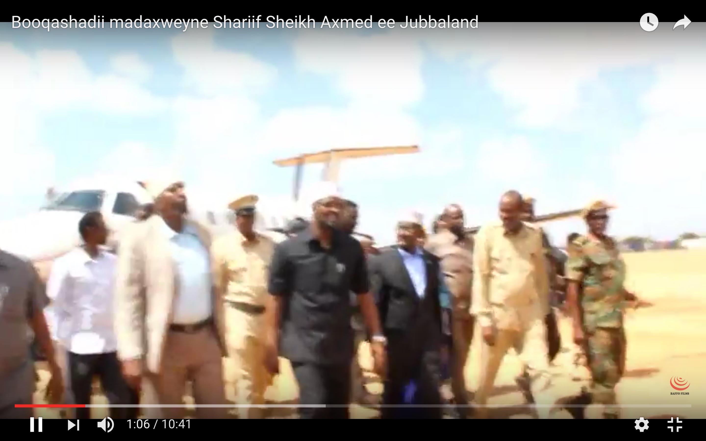 [Daawo] Shariifka oo ka degay Kismaayo kadib markii Axmed Madoobe dhabarka xejiyay Garguurte