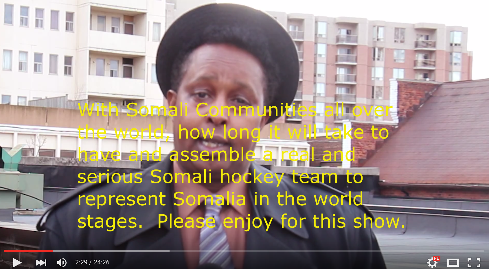 Video serious Somali hockey team to represent Somalia in the world stages - Show