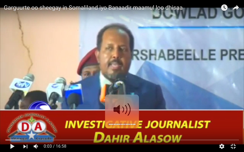 [Topnews Daawo War culus] Madaxweyne Garguurte oo shaaciyay in maamul loo dhisaa goboladda Waqooyi [Somaliland] iyo [Banaadir]