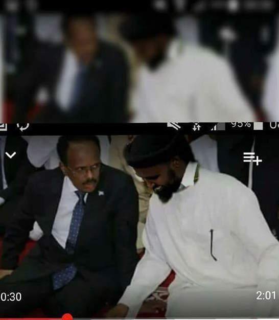 Wardegdega Daawo Farmaajo iyo Afhayeenka Al-Shabaab oo kullan qarsoodiya ku yeeshay Villa Somalia