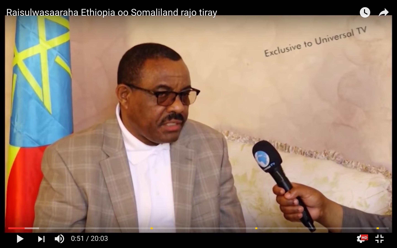 [Daawo] Raisulwasaaraha Ethiopia oo cadeeyay iney Garguurte taageersan yihiin laakiin Somaliland rajo beel ku riday