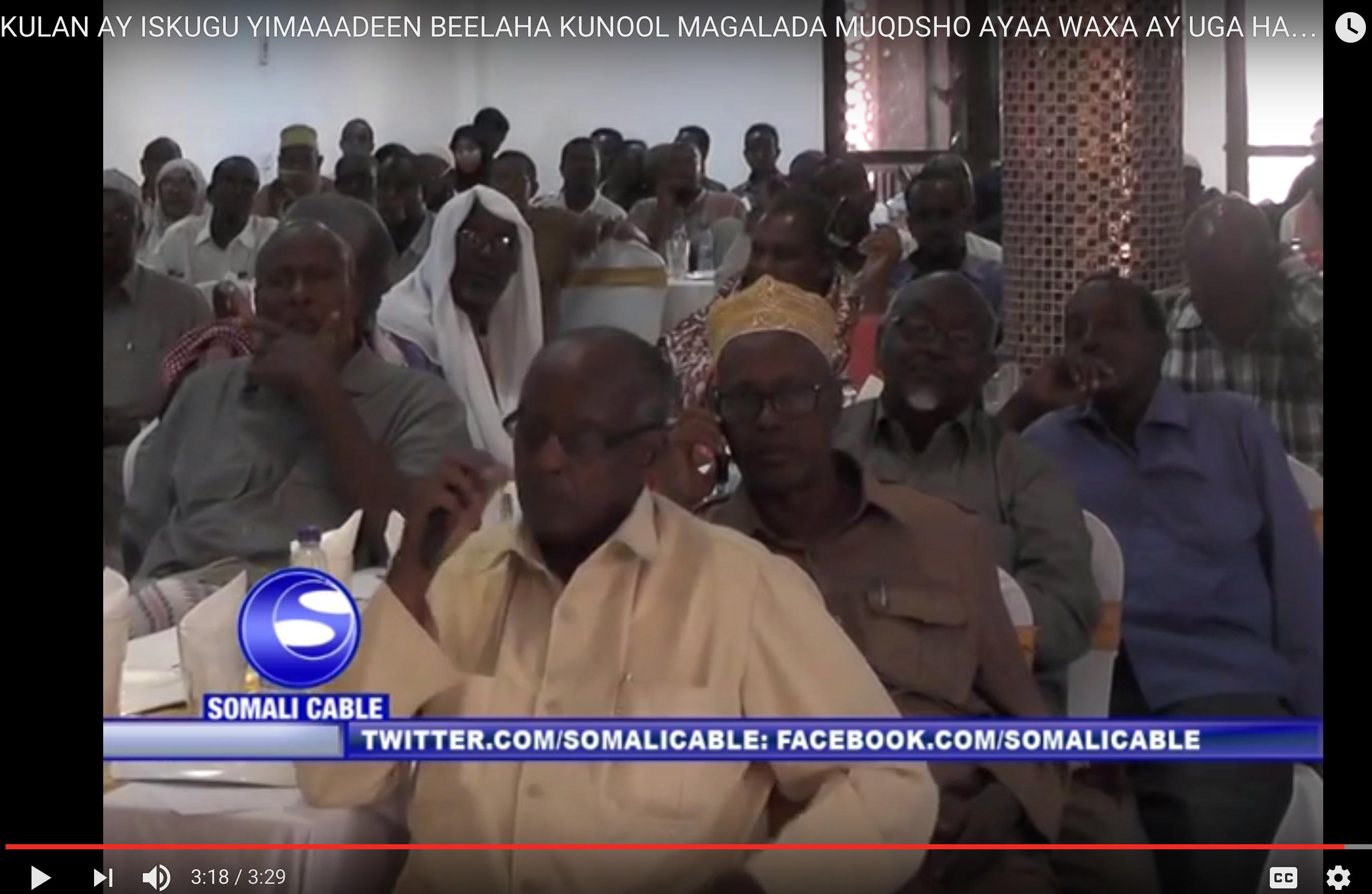 [Daawo] Video sida beesha Hawiye u nacday Madaxweyne Garguurte iyo hadaladii Odayaasha ku garbaasheen