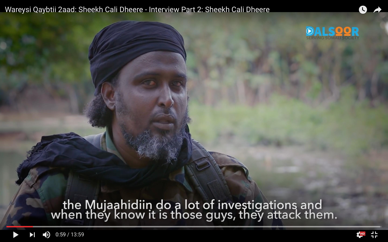 [Daawo] Wariye geesiya oo su-aalo adag ku garaacay Afhayeenka Al-Shabaab