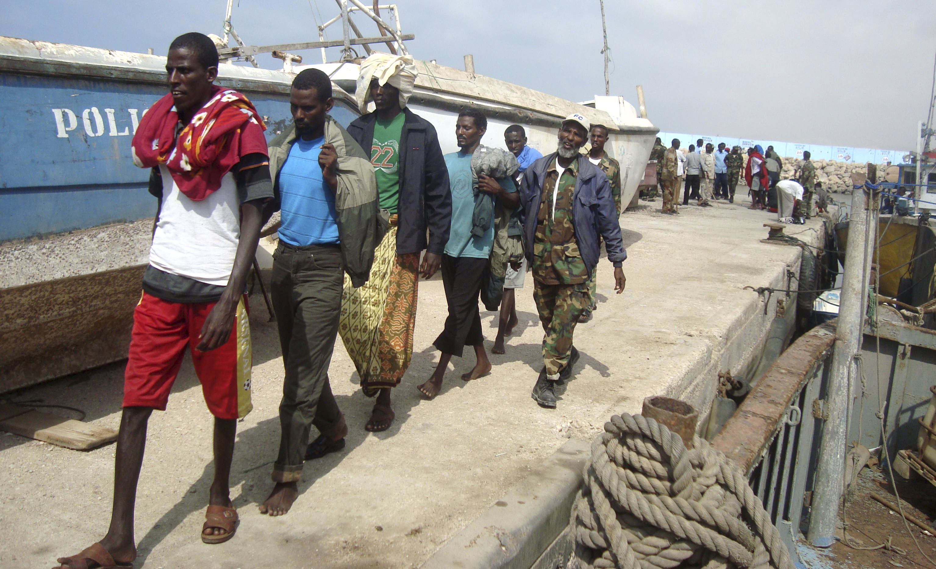 119 Somali pirates plead guilty; 50 of them face death sentence