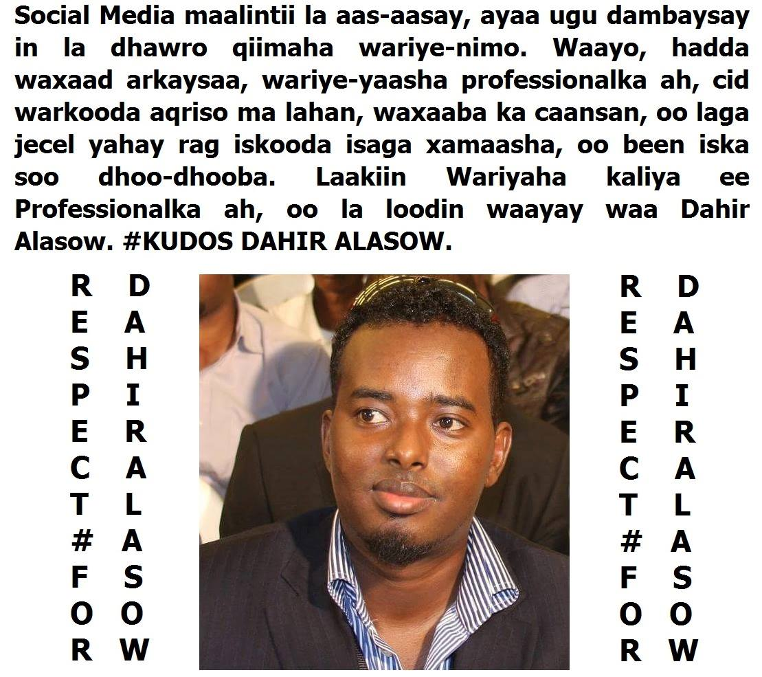 Somalia:Security officials implement Journalist Alasow's advice amid security concerns