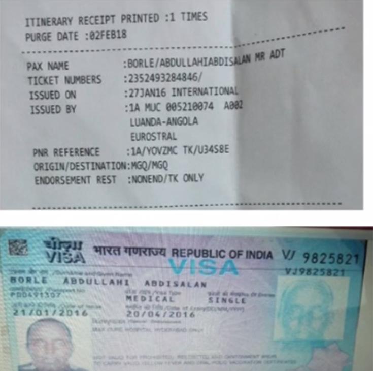[Daawo] baasaboorka -Visaha India iyo Ticket-ka ninkii isku qarxiyay Daallo Airlines
