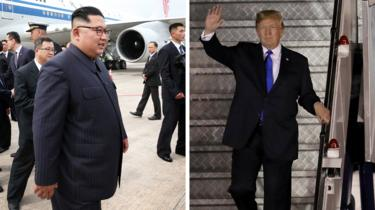 Trump Kim summit: US and N Korean leaders arrive in Singapore