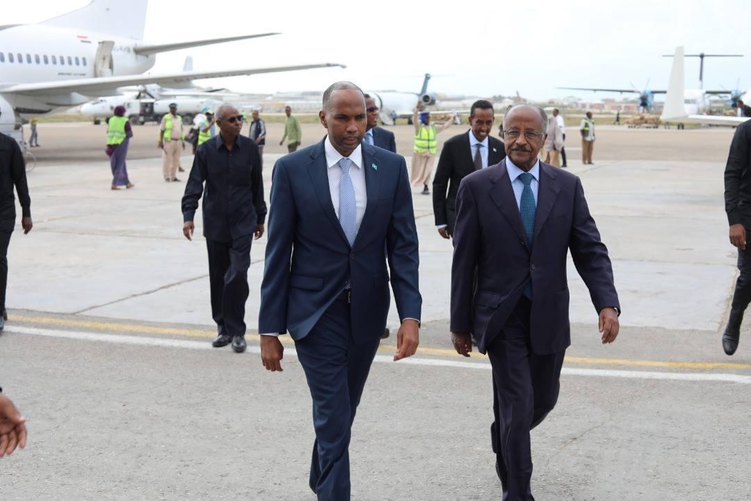 Somali Prime Minister welcomes high-level Eritrean delegation in Mogadishu