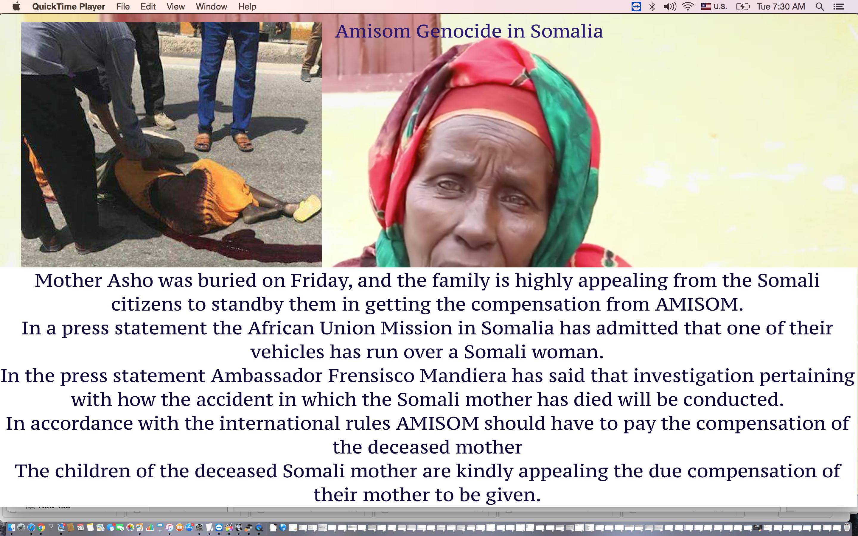 [Daawo] Xasuuqa Amisom ka wado Somalia iyo qoyska hooyadii ay jiireen oo shacabka hiil weeydiistay