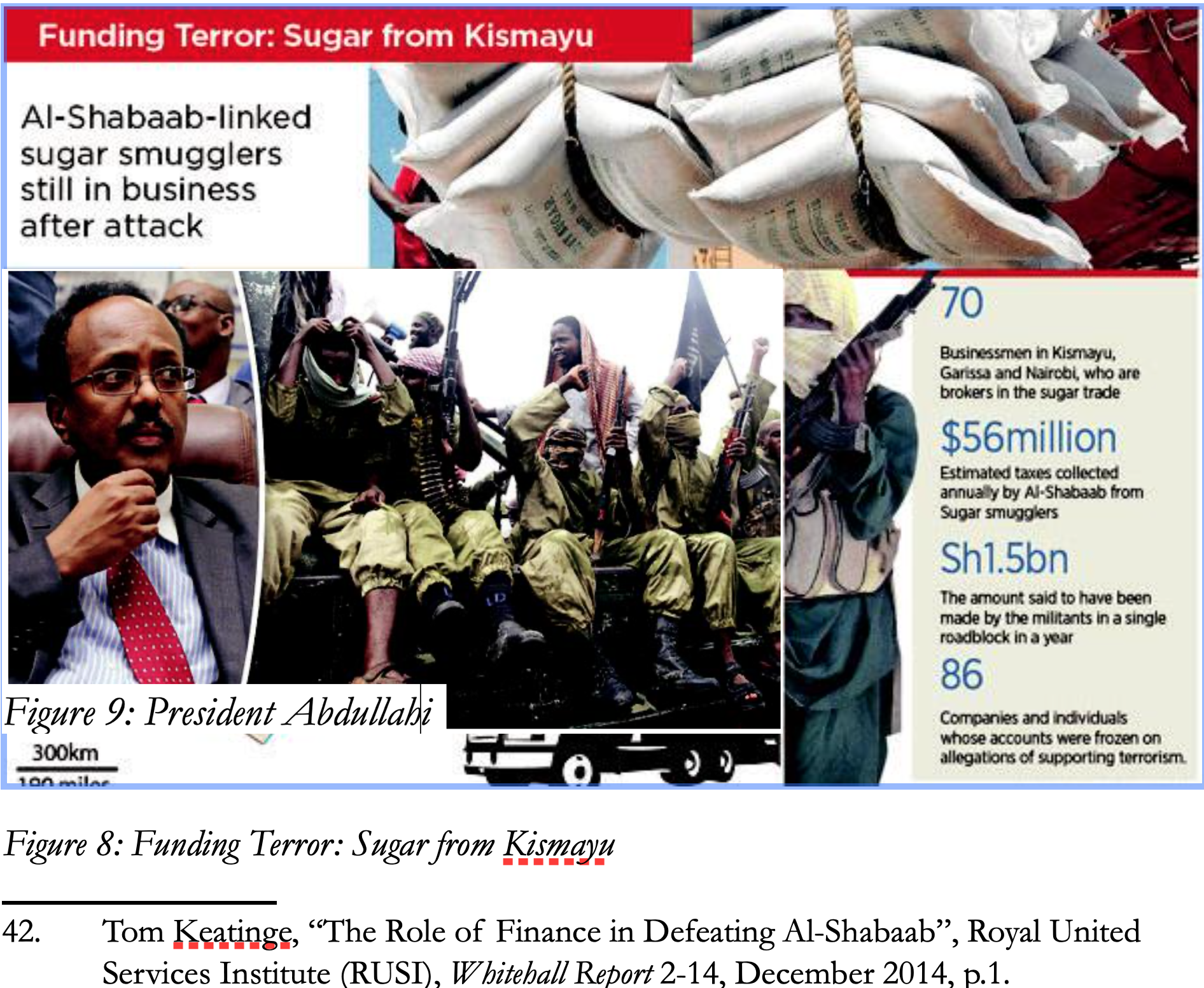 Al-Shabaab collected an estimated $20 million dollars from South Somalia alone - Per month